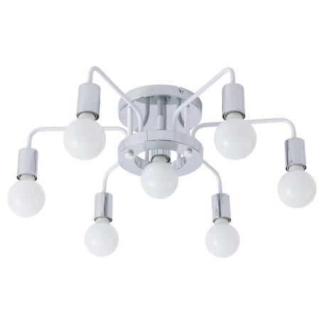 Потолочная люстра Arte Lamp Gelo A6001PL-7WH, 7xE27x40W, хром, металл