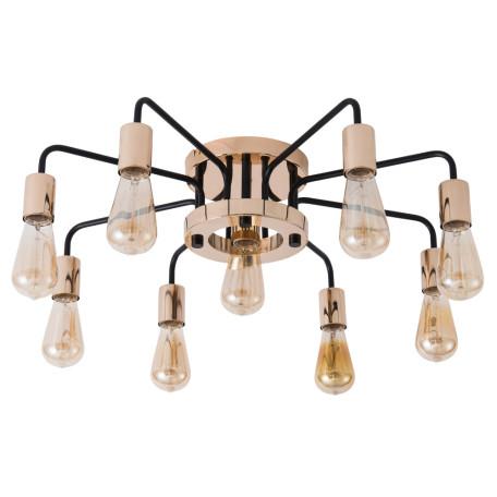 Потолочная люстра Arte Lamp Gelo A6001PL-9BK, 9xE27x40W, медь, металл