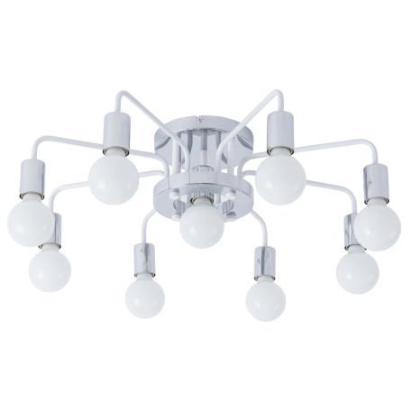 Потолочная люстра Arte Lamp Gelo A6001PL-9WH, 9xE27x40W, хром, металл