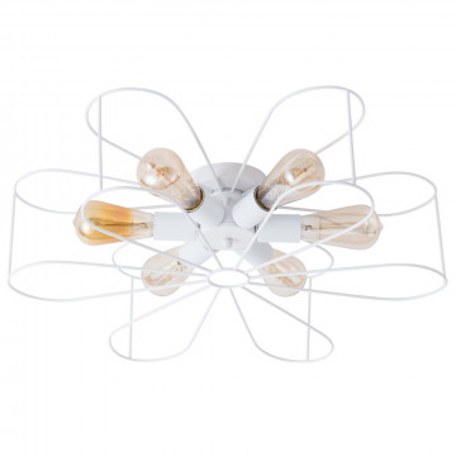 Потолочная люстра Arte Lamp Camomilla A6049PL-6WH, 6xE27x40W, белый, металл