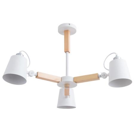 Потолочная люстра с регулировкой направления света Arte Lamp Oscar A7141PL-3WH, 3xE27x40W, белый, коричневый, металл, дерево