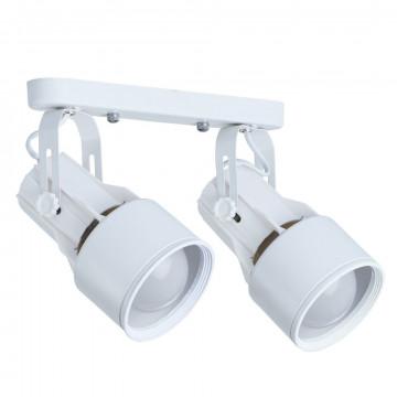 Потолочный светильник с регулировкой направления света Arte Lamp Lyra A6252PL-2WH, 2xE27x40W, белый, металл
