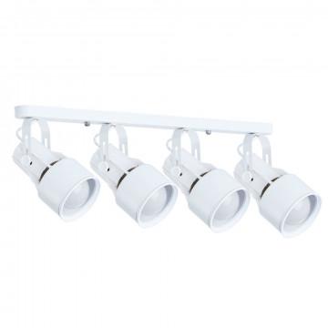 Потолочный светильник с регулировкой направления света Arte Lamp Lyra A6252PL-4WH, 4xE27x40W, белый, металл