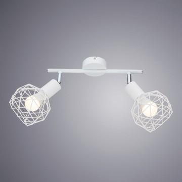 Потолочный светильник с регулировкой направления света Arte Lamp Sospiro A6141AP-2WH, 2xE14x40W, белый, металл