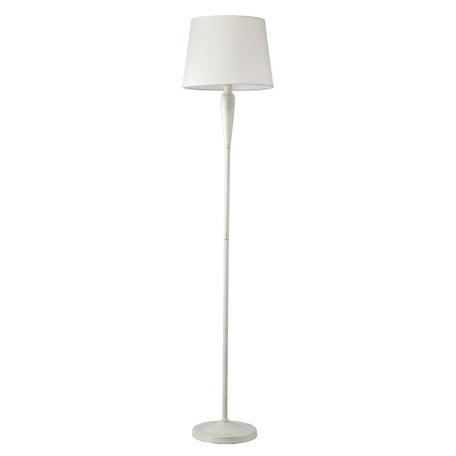 Торшер Arte Lamp Orlean A9310PN-1WG, 1xE27x60W, белый с золотой патиной, бежевый, металл, текстиль