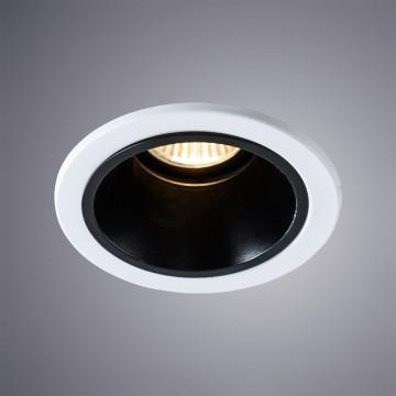 Встраиваемый светильник Arte Lamp Instyle Taurus A6663PL-1BK, 1xGU10x50W, белый, черный, металл
