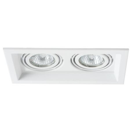Встраиваемый светильник Arte Lamp Instyle Canis A6661PL-2WH, 2xGU10x50W, белый, металл