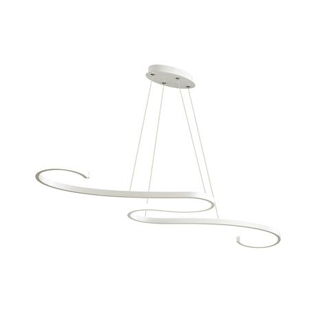 Подвесной светодиодный светильник Lumion LEDio Aaron 3697/44L, LED 44W 4000K, белый, металл, металл с пластиком, пластик