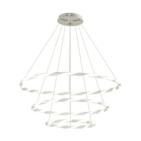 Подвесной светодиодный светильник Lumion LEDio Serenity 3700/99L, LED 107W 4000K, белый, металл, металл с пластиком, пластик