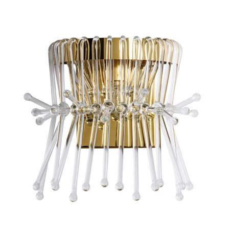 Бра Divinare Vetro 7565/01 AP-1, 1xE14x60W, золото, прозрачный, металл, хрусталь