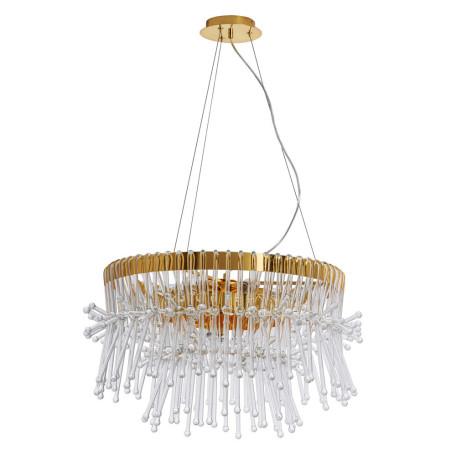 Подвесная люстра Divinare Vetro 7565/01 SP-7, 7xE14x60W, золото, прозрачный, металл, хрусталь