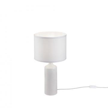 Настольная лампа Maytoni Parfenon Z007TL-01W, 1xE27x60W, белый, керамика, металл, текстиль