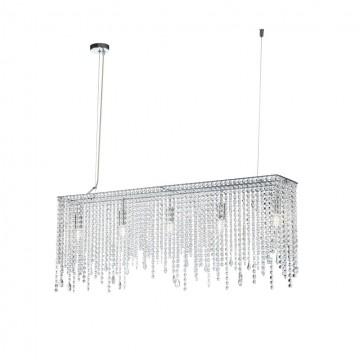 Подвесной светильник Maytoni Empress DIA002PL-05CH, 5xE14x60W, хром, прозрачный, металл, хрусталь