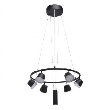 Подвесная светодиодная люстра с регулировкой направления света De Markt Гэлэкси 632015106, LED 37,2W 3000K 6,5lm, черный, металл