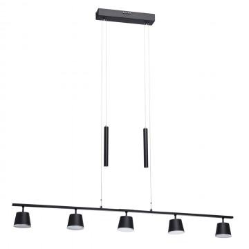 Подвесной светодиодный светильник De Markt Гэлэкси 632015005, LED 6,5W 3000K 2600lm, черный, металл, пластик