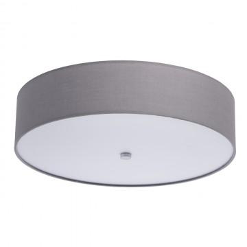Потолочный светодиодный светильник MW-Light Дафна 453011401, LED 40W 3000K 3960lm, белый, серый, металл, текстиль, пластик