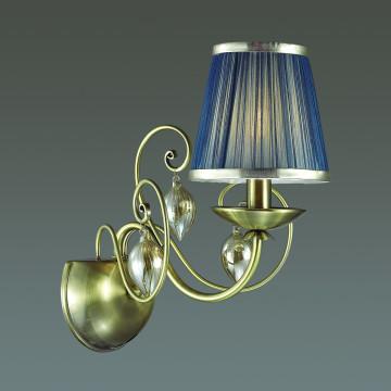 Бра Odeon Light Classic Niagara 3921/1W, 1xE14x40W, бронза, синий, янтарь, металл, текстиль, стекло - миниатюра 2