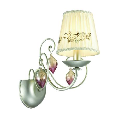 Бра Odeon Light Adriana 3922/1W, 1xE14x40W, серебро, бежевый, коньячный, розовый, металл, текстиль, стекло