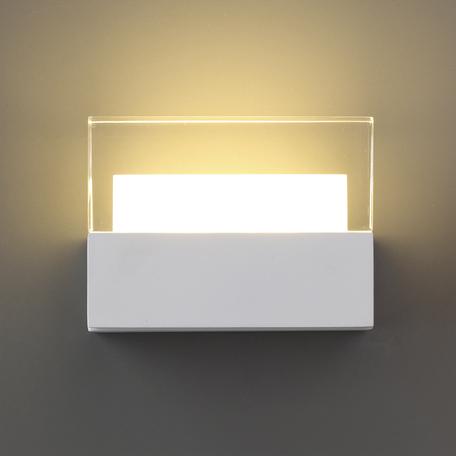 Настенный светодиодный светильник Odeon Light L-Vision Stallite 3541/6LW, LED 6W 3000K 500lm, белый, металл, пластик