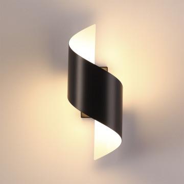 Настенный светодиодный светильник Odeon Light Hightech Boccolo 3542/5LW, LED 5W 3000K 500lm, черный, черный с белым, металл - миниатюра 2