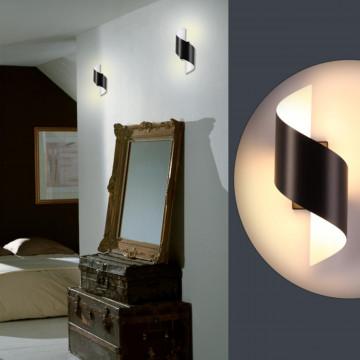 Настенный светодиодный светильник Odeon Light Hightech Boccolo 3542/5LW, LED 5W 3000K 500lm, черный, черный с белым, металл - миниатюра 3