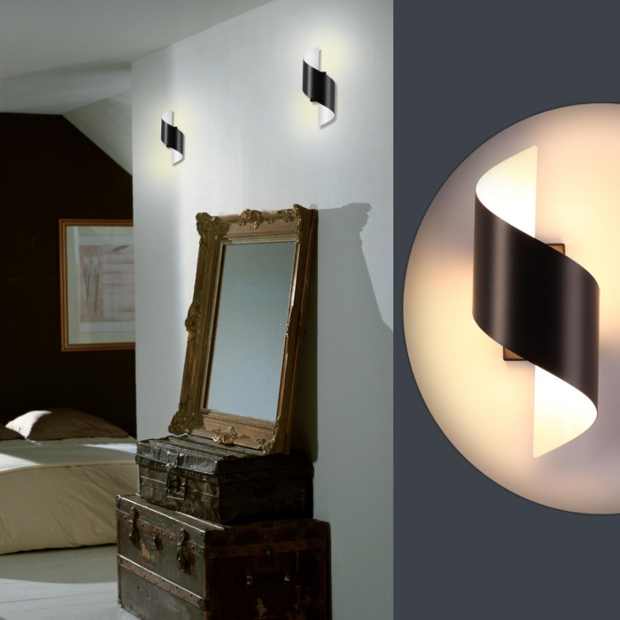 Настенный светодиодный светильник Odeon Light Hightech Boccolo 3542/5LW, LED 5W 3000K 500lm, черный, черный с белым, металл - фото 3