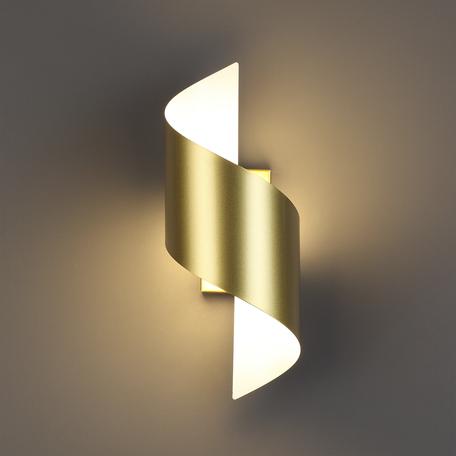 Настенный светодиодный светильник Odeon Light Boccolo 3544/5LW 3000K (теплый), золото, металл