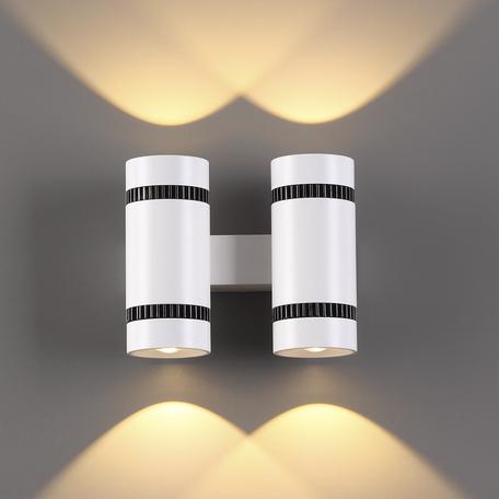 Настенный светодиодный светильник Odeon Light L-Vision BinoLED 3545/20LW, LED 20W 3000K 2000lm, белый, черно-белый, металл