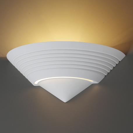 Настенный светильник Odeon Light Gips 3547/1W, 1xE14x40W, белый, под покраску, металл, гипс