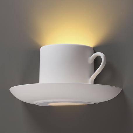Настенный светильник Odeon Light Hightech Gips 3548/1W, 1xG9x40W, белый, под покраску, гипс