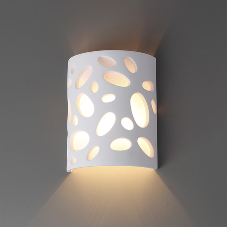 Настенный светильник Odeon Light Gips 3549/1W, 1xG9x40W, белый, под покраску, металл, гипс