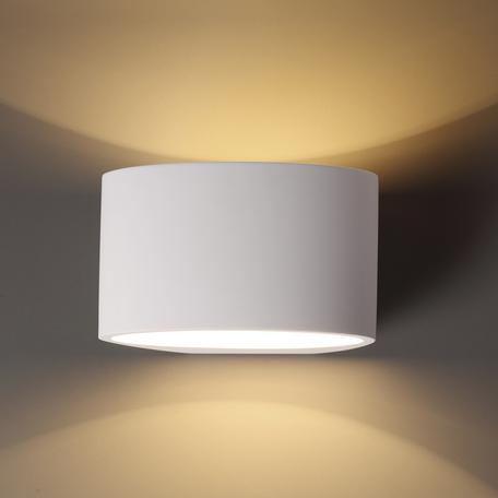 Настенный светильник Odeon Light Gips 3550/1W, 1xG9x40W, белый, под покраску, металл, гипс