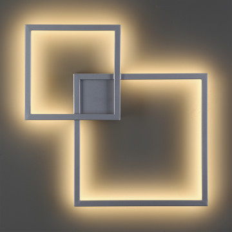 Настенный светодиодный светильник Odeon Light QuadroLED 3558/18CL, LED 18W, серебро, металл