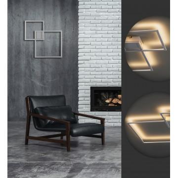 Настенный светодиодный светильник Odeon Light QuadroLED 3558/36CL, серебро, металл - миниатюра 2