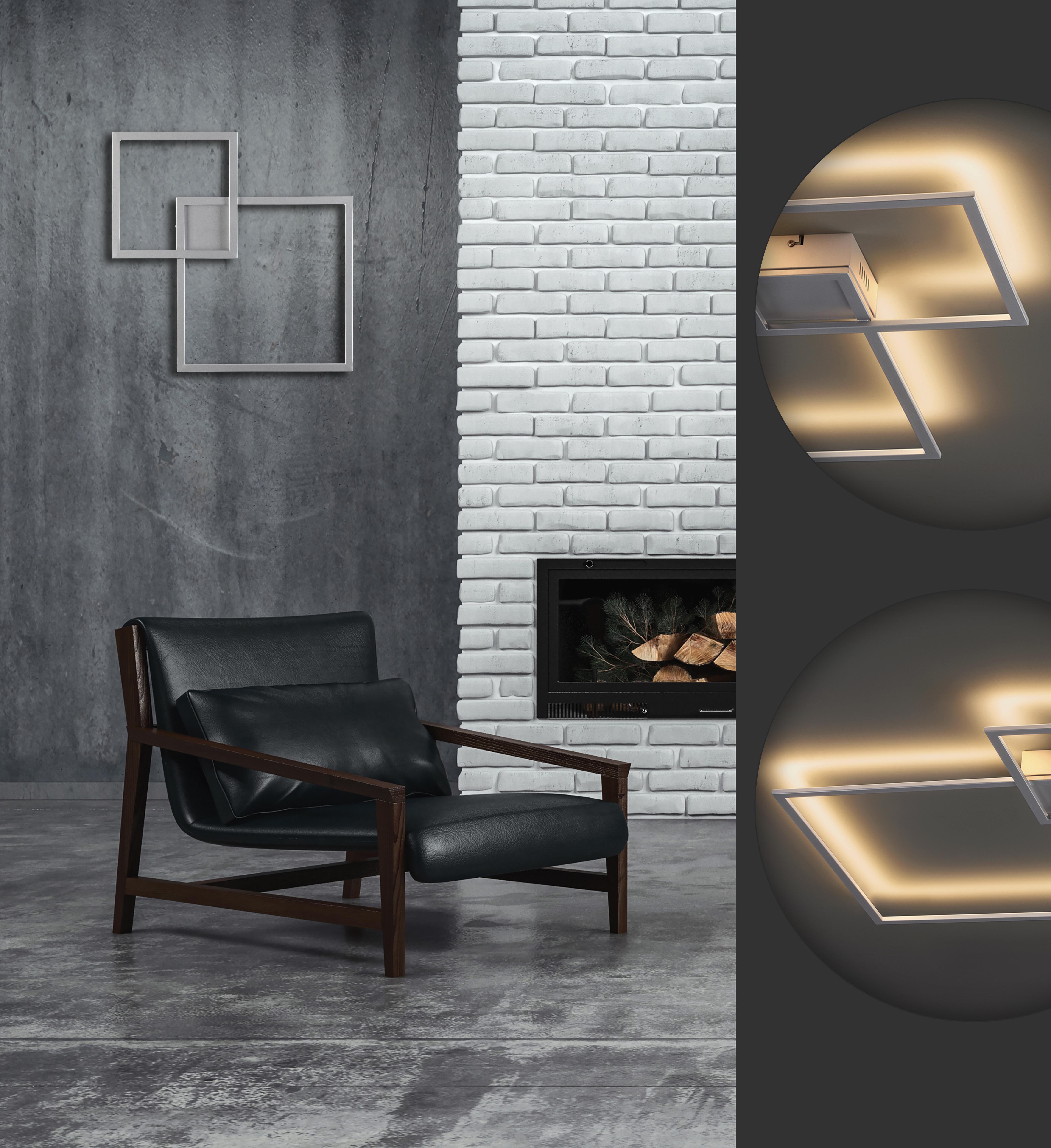 Настенный светодиодный светильник Odeon Light QuadroLED 3558/36CL, серебро, металл - фото 2