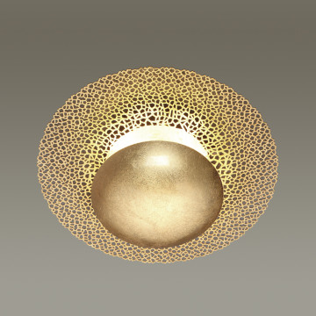 Настенный светодиодный светильник Odeon Light Solario 3559/24L, LED 24W 3000K 1920lm, матовое золото, металл