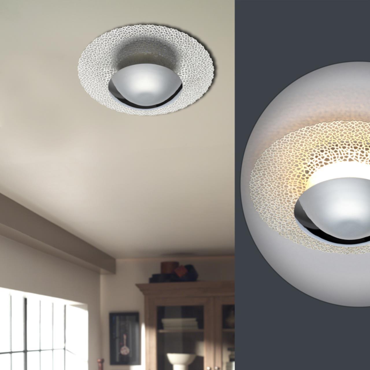 Настенный светодиодный светильник Odeon Light Hightech Lunario 3560/18L, LED 18W 3000K 1008lm, хром, металл - фото 3