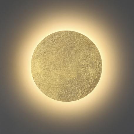 Настенный светодиодный светильник Odeon Light Hightech Solario 3561/9WL, LED 9W 3000K 504lm, матовое золото, металл