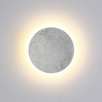 Настенный светодиодный светильник Odeon Light Hightech Lunario 3562/6WL, LED 6W 3000K 336lm, серебро, металл - миниатюра 2