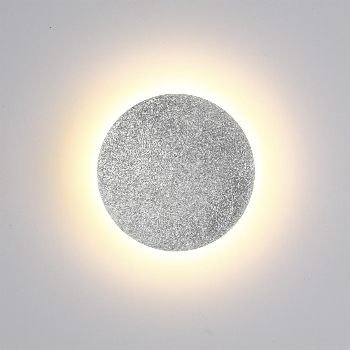 Настенный светодиодный светильник Odeon Light Hightech Lunario 3562/6WL, LED 6W 3000K 336lm, серебро, металл - фото 2