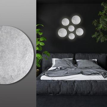 Настенный светодиодный светильник Odeon Light Hightech Lunario 3562/6WL, LED 6W 3000K 336lm, серебро, металл - миниатюра 3