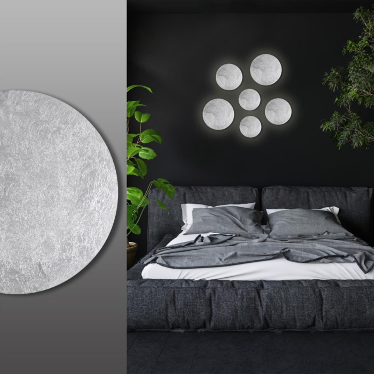 Настенный светодиодный светильник Odeon Light Hightech Lunario 3562/6WL, LED 6W 3000K 336lm, серебро, металл - фото 3