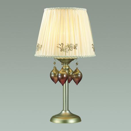 Настольная лампа Odeon Light Adriana 3922/1T, 1xE14x40W, серебро, бежевый, коньячный, розовый, металл, текстиль, стекло