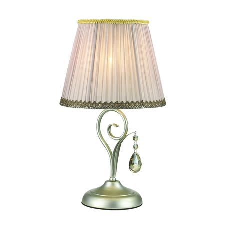 Настольная лампа Odeon Light Marionetta 3924/1T, 1xE14x40W, серебро, серый, янтарь, металл, текстиль, хрусталь