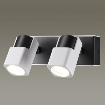 Потолочный светильник с регулировкой направления света Odeon Light Daravis 3491/2W, 2xGU10x50W, белый, черный, металл - миниатюра 1