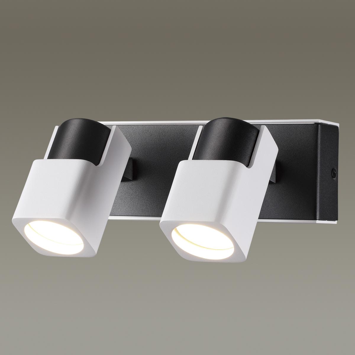 Потолочный светильник с регулировкой направления света Odeon Light Daravis 3491/2W, 2xGU10x50W, белый, черный, металл - фото 1