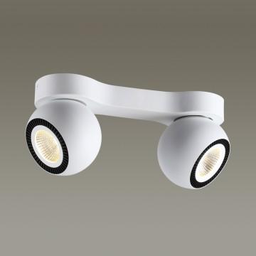 Потолочный светодиодный светильник с регулировкой направления света Odeon Light Urfina 3536/2CL, LED 20W 3000K (теплый), белый, черный, металл