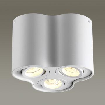 Потолочный светильник Odeon Light Pillaron 3564/3C, 3xGU10x50W, белый, металл - миниатюра 1