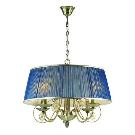 Подвесная люстра Odeon Light Classic Niagara 3921/4, 4xE14x40W, бронза, синий, янтарь, металл, текстиль, стекло
