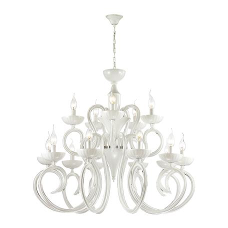 Подвесная люстра Odeon Light Hall Zefiro 3932/15, 15xE14x40W, белый, стекло